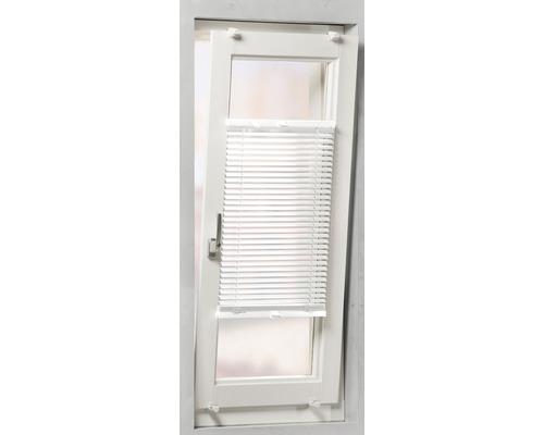 Soluna Store vénétien en aluminium avec guidage latéral, blanc, 70x130 cm