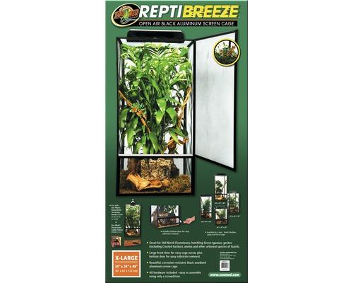 Terrarium ZOO MED Repti Breeze sans éclairage 61x61x122 cm aluminium