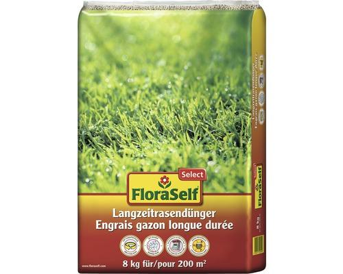 Engrais pour pelouse longue durée FloraSelf Select 8 kg 200 m²
