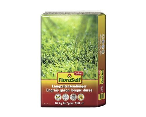 Engrais pour pelouse longue durée FloraSelf Select 18 kg 450 m²