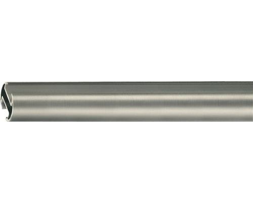 Tringle à rideaux avec rail intérieur Rivoli aspect acier inoxydable Ø 20 mm 120 cm