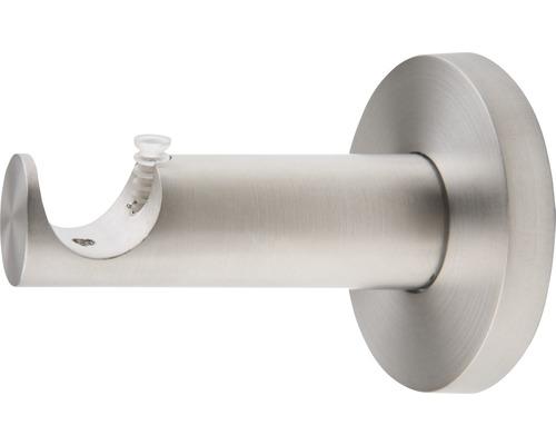 Support pour tringle Rivoli aspect acier inoxydable Ø 20 mm longueur 6,5 cm