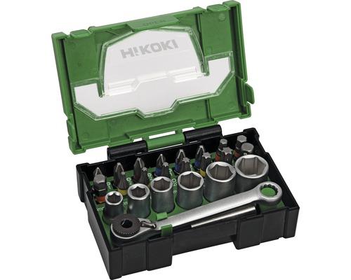Bit Box HiKOKI 24 pièces avec clé à cliquet (Mini)