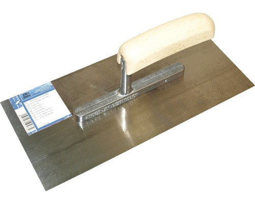 Glättekelle 28 cm, 0,6 mm, Stahl