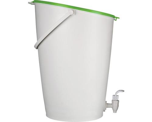 Silo de compostage Urban 15 L avec spray d''accélération de compost, blanc