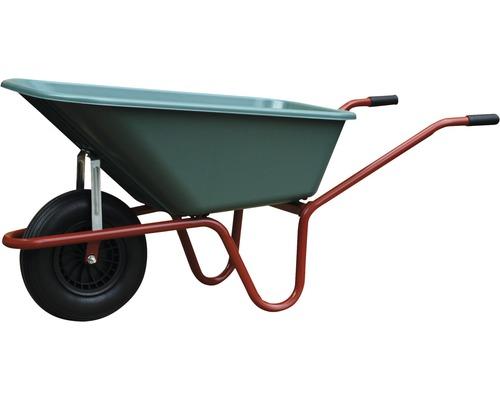CAPITO Gartenschubkarre GARTEN 100 Liter PP, grüne Tiefmulde, Lufträder mit Rillenprofil und Stahlfelgen inkl. Kunststoffgriffe