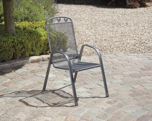 Chaise de jardin Toulouse acier gris