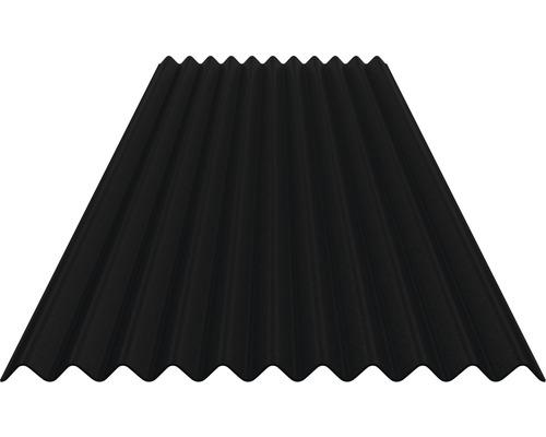 Plaque ondulée bituminée Sinus 76/30 noir 2000x830mm