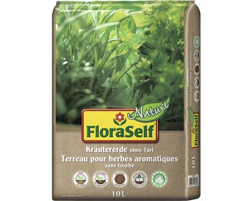 Kräutererde torffrei FloraSelf Nature 10 L