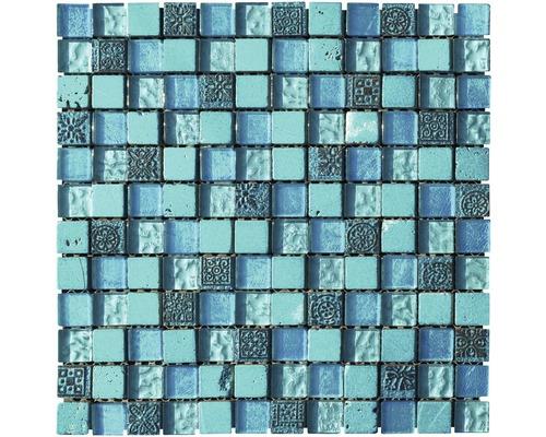 Mosaïque en grès cérame fin Piaza turquoise 29.8x29.8 cm - HORNBACH ...