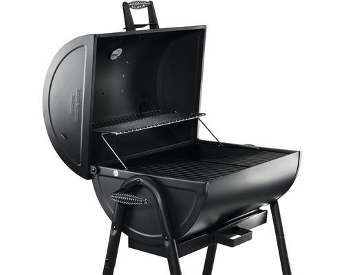 Barbecue au charbon de bois Tenneker® barbecue en fût TC-Drum avec thermomètre de couvercle et bac à cendres noir