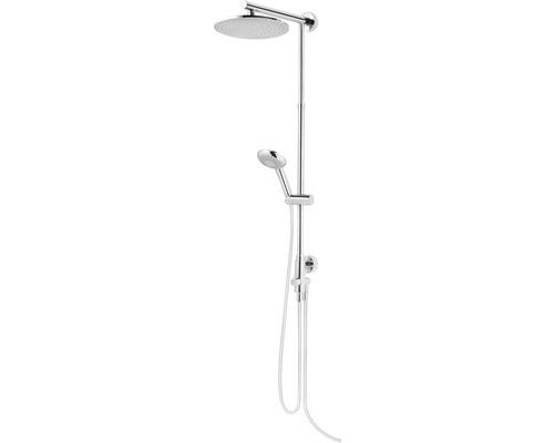 Colonne de douche Schulte Classic plus DuschMaster Rain D963031 02, pommeau de douche rond extra plat chromé avec inverseur