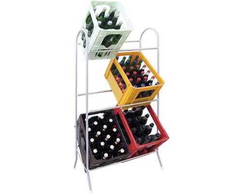 Support pour casier à bouteilles Schulte galvanisé 630x1240x370mm
