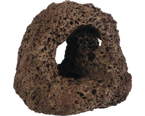 Décoration d''aquarium Lava Grotte 3 trous