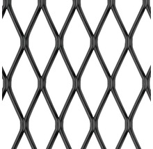 Tôle de métal déployé en aluminium noire 250x500x1 mm-thumb-0