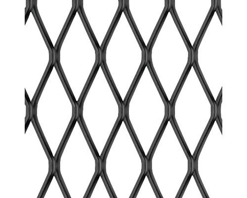 Tôle de métal déployé en aluminium noire 250x500x1 mm