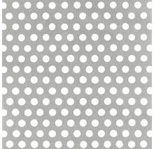 Tôle perforée aluminium argenté 250x500x0,8 mm perforation ronde-thumb-0