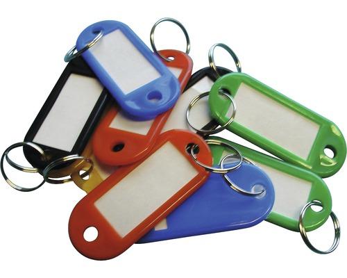 Set de 10 porte-clés multicolores