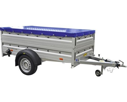 Humbaur Einachsanhänger Alumaster Cover Plus 2510x1310x700mm gebremst inkl. Bordwandaufsatz und Flachplane zul. Gesamtgewicht 1300kg