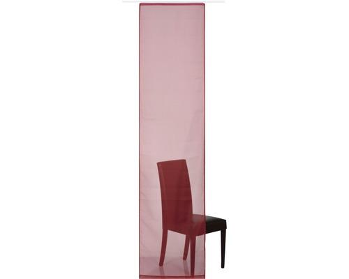 Schiebegardine Basic rot 60x245 cm