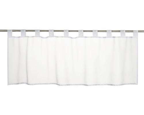 Scheibengardine Basic weiß 140x48 cm