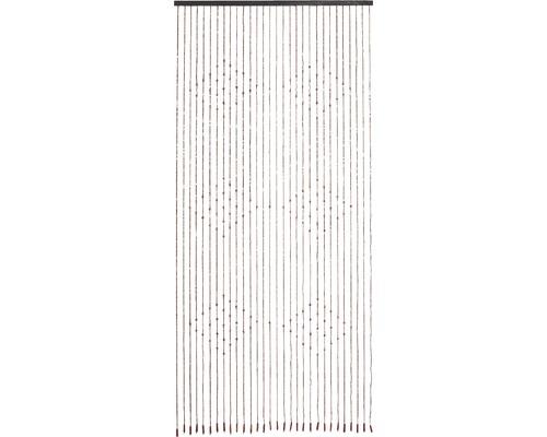 Rideau de porte perles en bois Ganges 90x200 cm