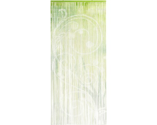 Rideau de porte bambou Flora vert 90x200 cm