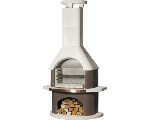 Barbecue cheminée Buschbeck San Remo, 54 x 34 cm brun