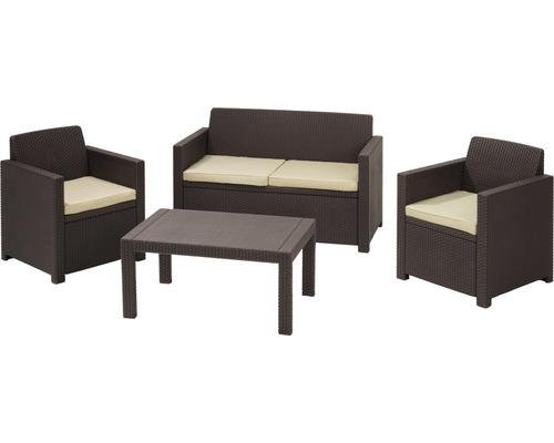 Set de meubles de salon de jardin Jardin Merano rotin synthétique ...