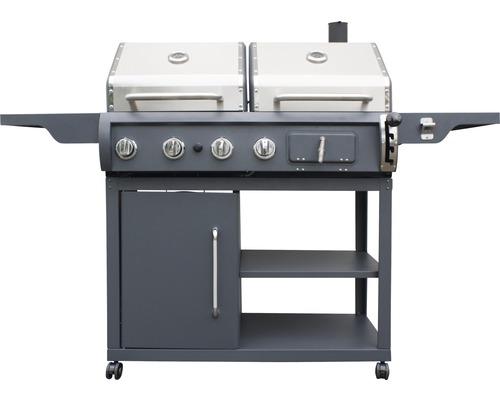 Barbecue combiné gaz-charbon Tepro Buffalo, Ø 45.7cm