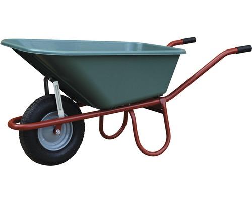 CAPITO Standard Schubkarre ALLCAR 100 Liter PP Tiefmulde, Gummiräder mit Blockprofil und Stahlfelge inkl. Kunstoffgriffe