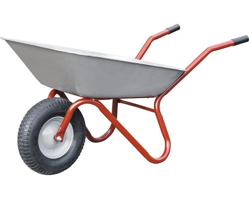 Brouette Pro CAPITO BECKER 85 litres, cuve plate avec fond en tôle, roues en caoutchouc avec remplissage mousse avec jante en acier, poignées en plastique inclus