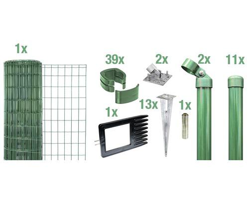 Kit clôture complète Fix-Clip Pro®, pour douille, 25 x 0,81 m, vert