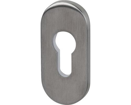 Rosace de protection cylindre profilé ovale acier inoxydable