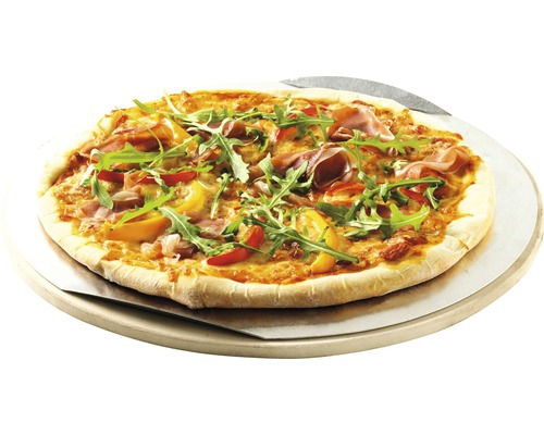 Pierre à pizza Ø 26 cm Weber avec tôle aluminium convient à la cuisson de pizzas, du pain et de desserts
