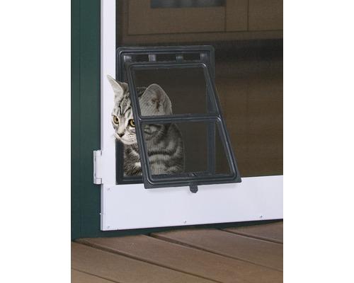 Chatière pour portes à moustiquaire PLUS/EXPERT noir 20x25cm