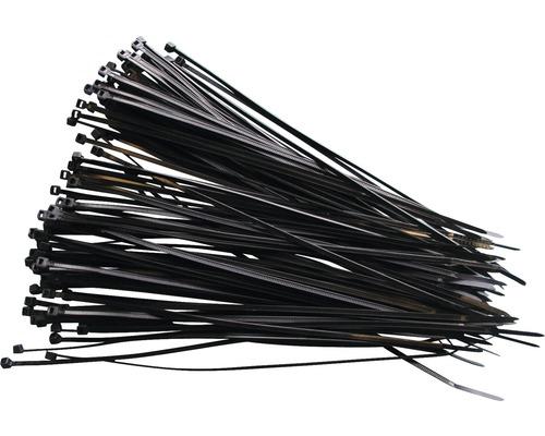 Collier de fixation résistant aux UV 200x2,6mm noir 100 pièces