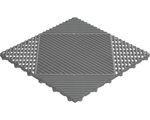 Dalle à clipser en plastique florco classic, 40 x 40 cm, gris