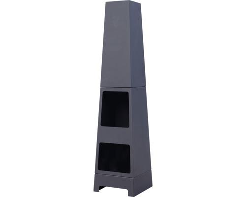Poêle en acier Buschbeck Malmö, Ø 36 x H 150 cm, acier noir