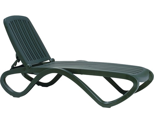 Chaise longue de jardin Nardi Tropico plastique, vert foncé ...