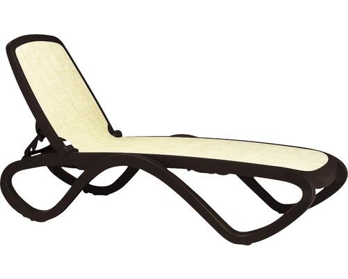 Chaise longue de jardin Nardi Omega rotin synthétique, café-beige ...