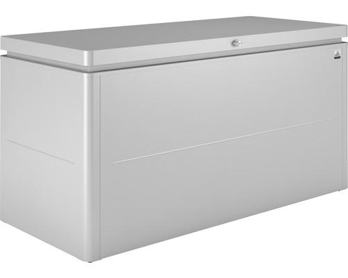 Boîte de rangement biohort LoungeBox 160 160x70x83,5cm argent métallique
