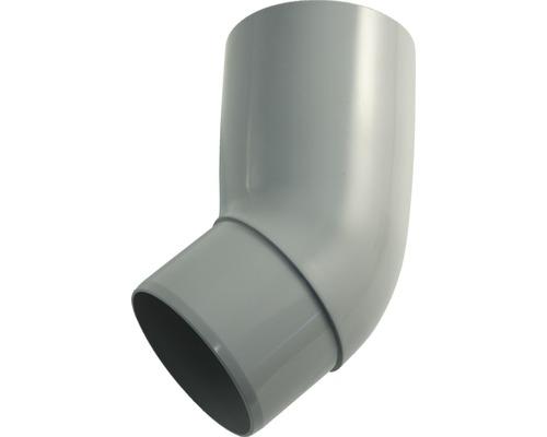 Coude 75mm 45 degrés gris