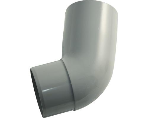Coude 75mm 67 degrés gris