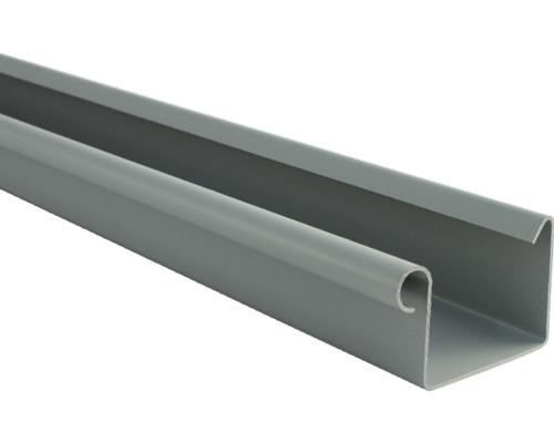Chéneau rectangulaire Marley diamètre nominal 70mm gris longueur: 1,00m