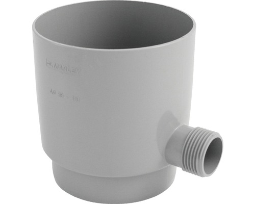 Collecteur d''eau de pluie de 105 mm gris