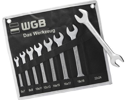 Jeu de clés à fourche WGB 8 pcs dans un sac à roulettes