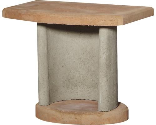 Table de desserte Buschbeck pour barbecue cheminée, terre cuite - gris
