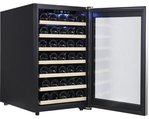 Cave à vins PKM WKS52A lxhxp 49.5 x 84 x 58 cm compartiment de réfrigération 120 l pour 52 bouteilles