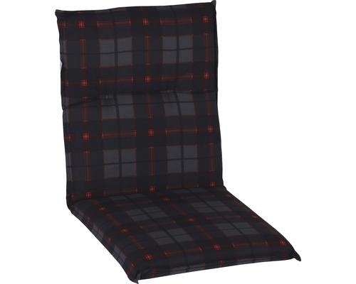 Auflage für Niederlehner 48 x 98 cm Baumwolle schwarz-rot